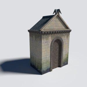 3D modular castle gate building pack