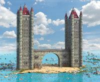 fantasy island tower 3D model