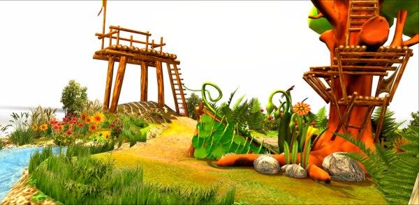 cute nature landscape model