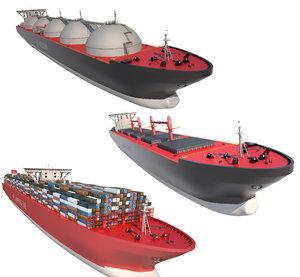 tanker ships 3D model