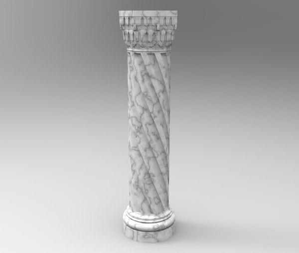 auger ottoman architecture interior 3D model