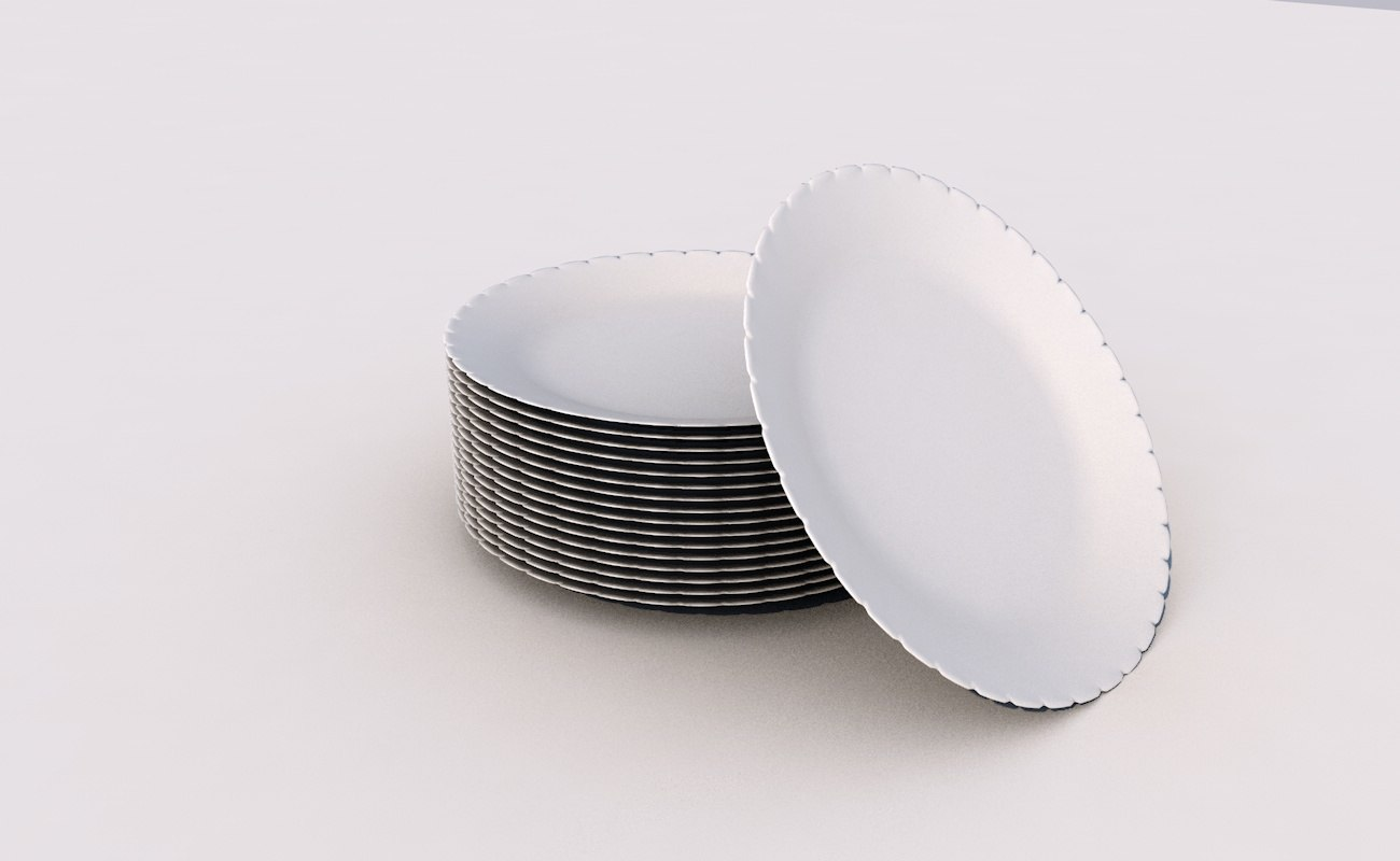3D tableware dishes plate
