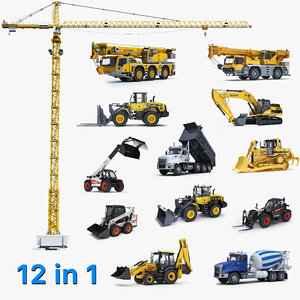 3D big construction equipment model