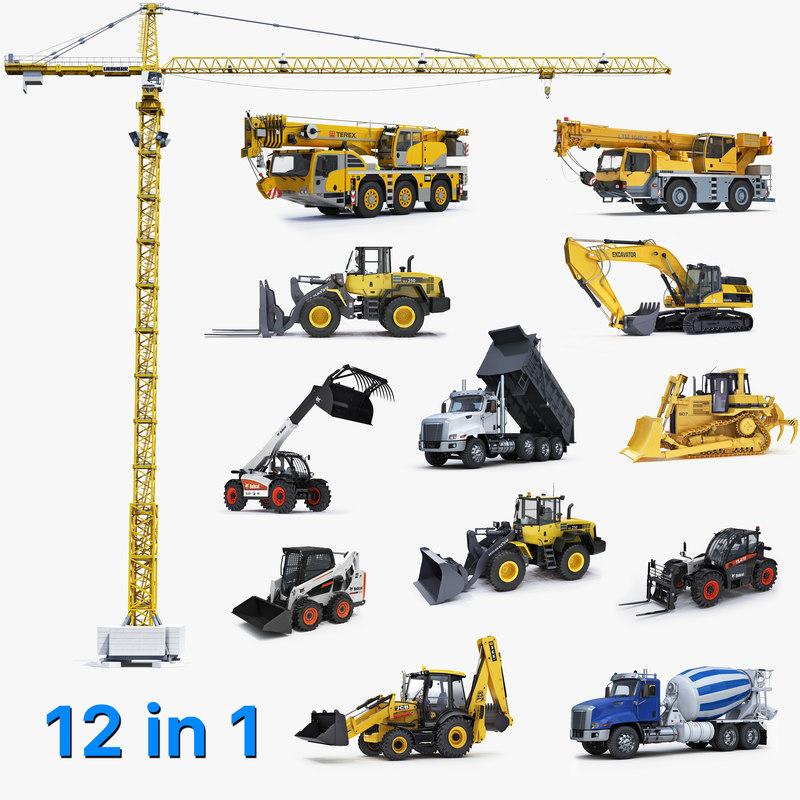 3D big construction equipment model