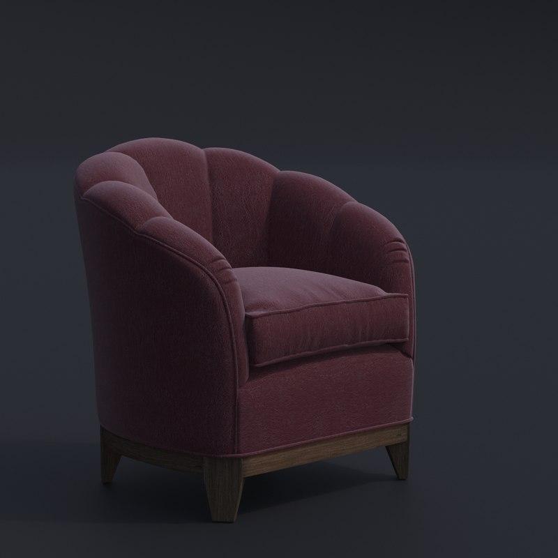 3D george smith almack chair