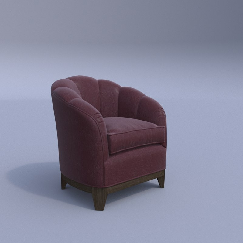 3D model george smith almack chair