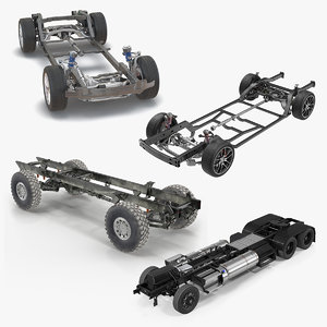 vehicle chassis 3D model