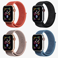 Apple Watch 4 Series Four colors Aluminum Case with Sport Loop