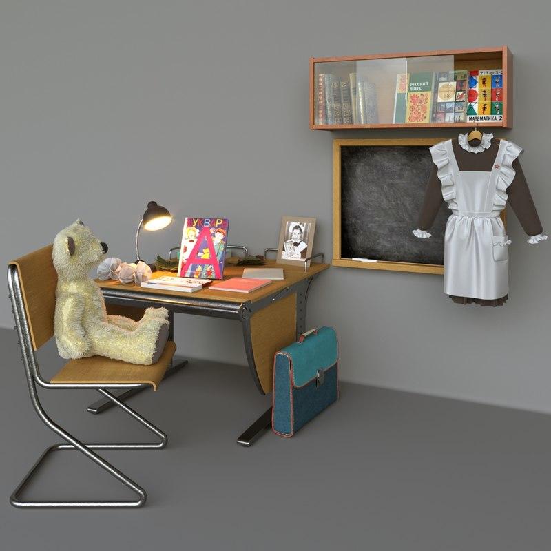 school ussr 3D model