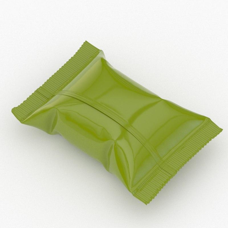 candy wrapper v4 3D model
