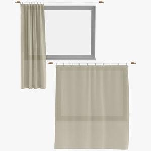 3D modern curtains model