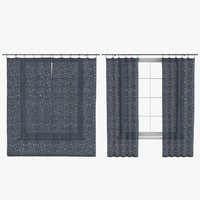 3D model contemporary curtains