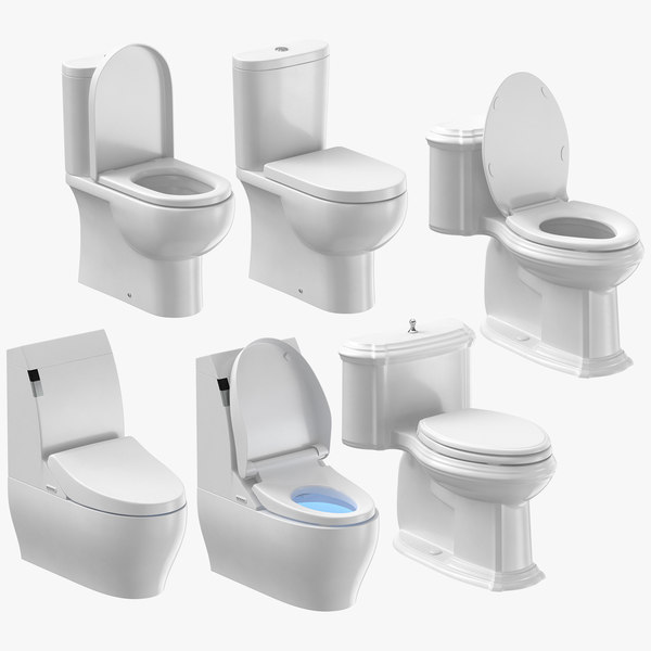3D toilets design classical