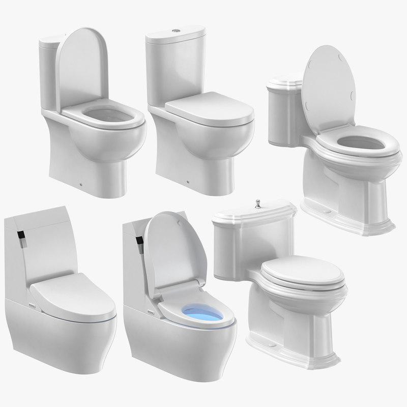 3D toilets design classical