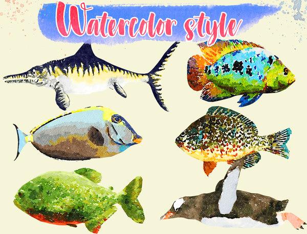 3D model fish illustration - 3