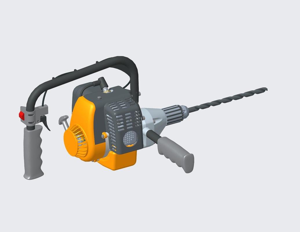 gasoline drill 3D model