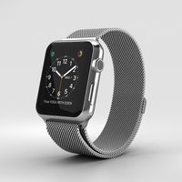 3D model apple watch stainless