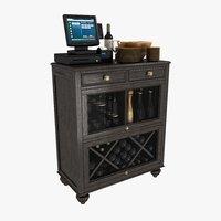3D waiter station cabinet