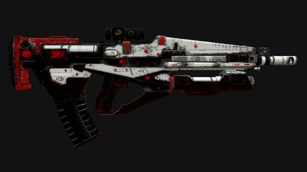 3D destiny rifle model