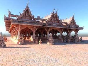 pagoda city hd 3D model
