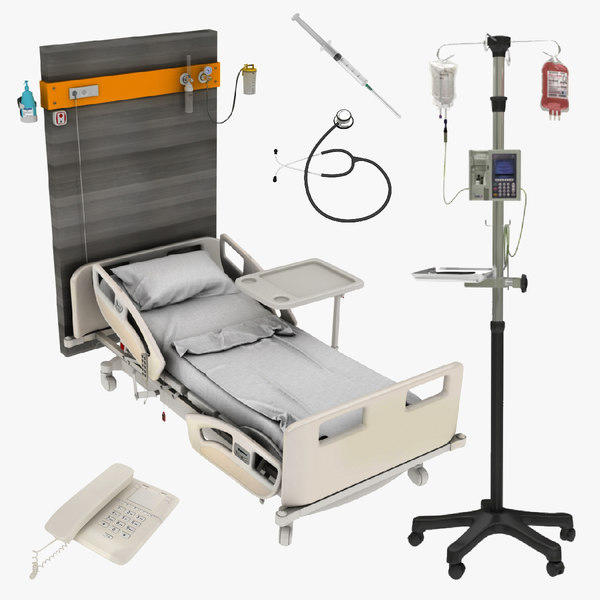 bed stand syringe hospital model