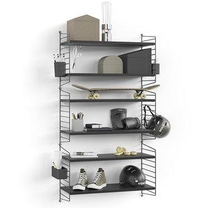 shelves organizer model