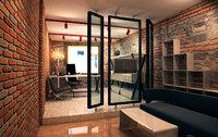 3D office room model