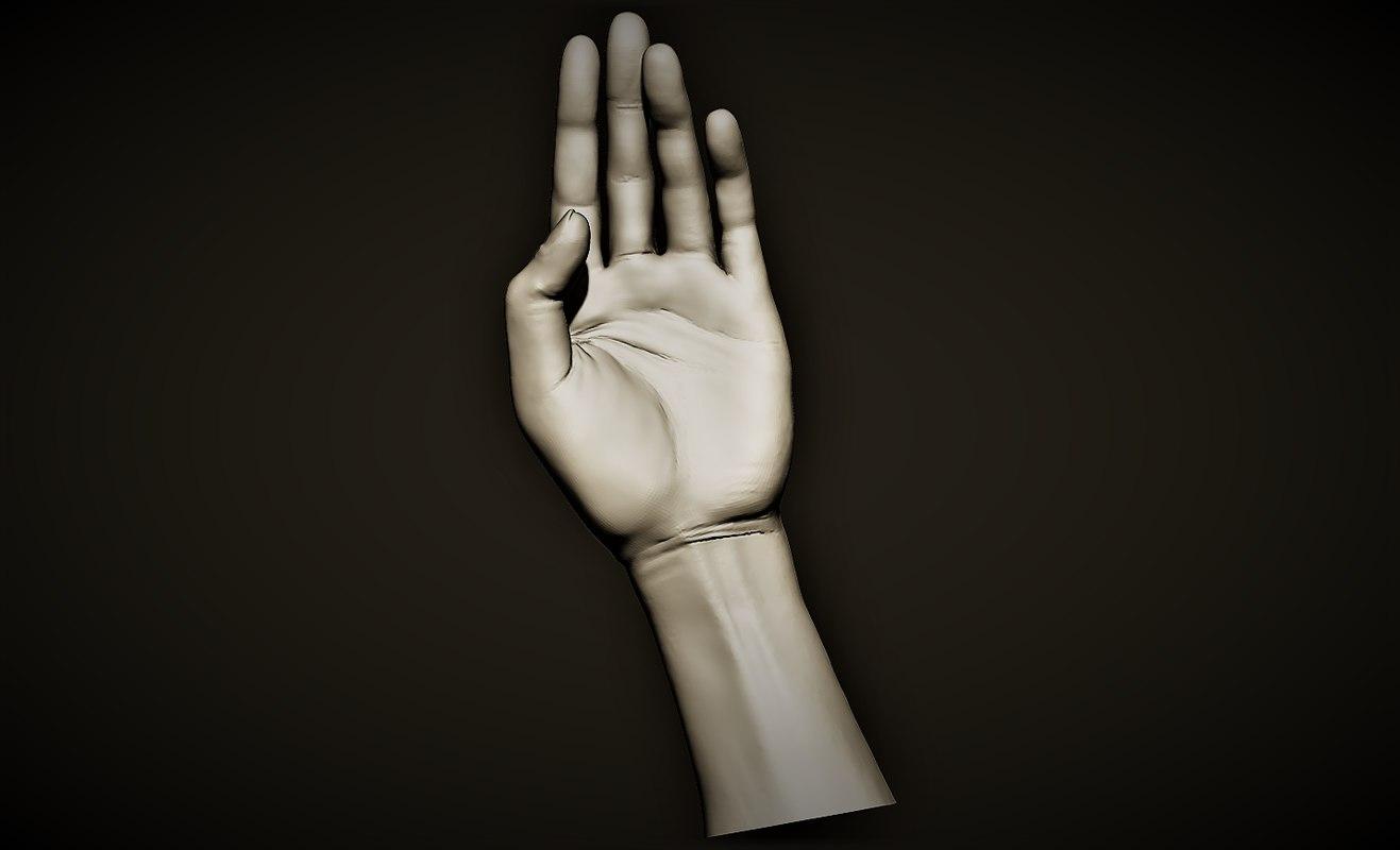 hand offering open 3D model