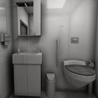 bathroom room bath 3D model