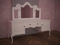 3D chest drawers white