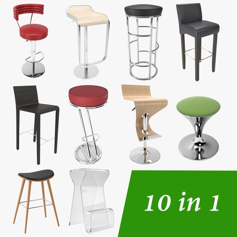 3D bar stool 10