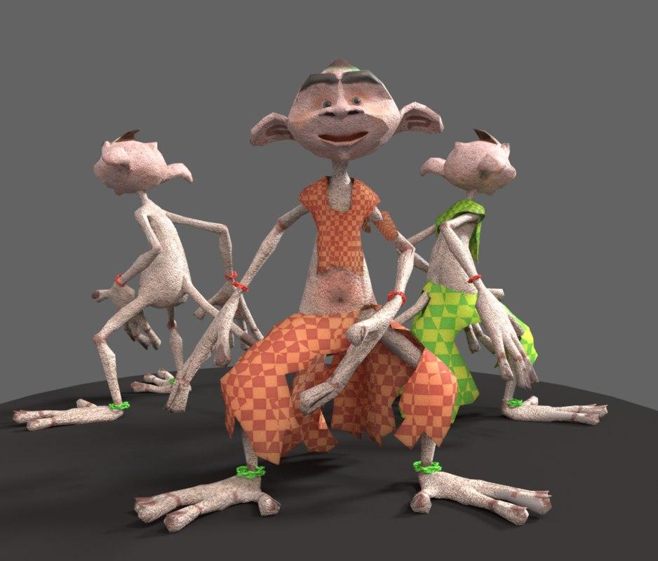 pitu cartoon 3D