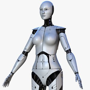 3D female robot model