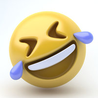 3D model emoji laughing