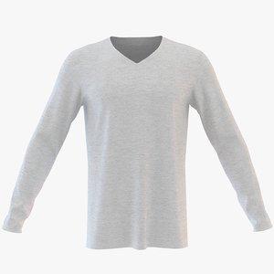 3D mens v neck sweatshirt