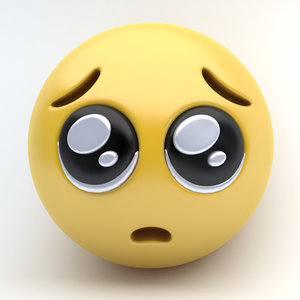 emoji pleading eyes 3D