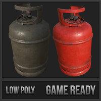 propane gas cylinder 3 3D model