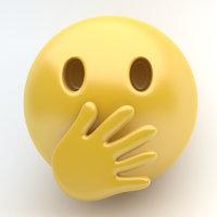 3D emoji cover mouth model