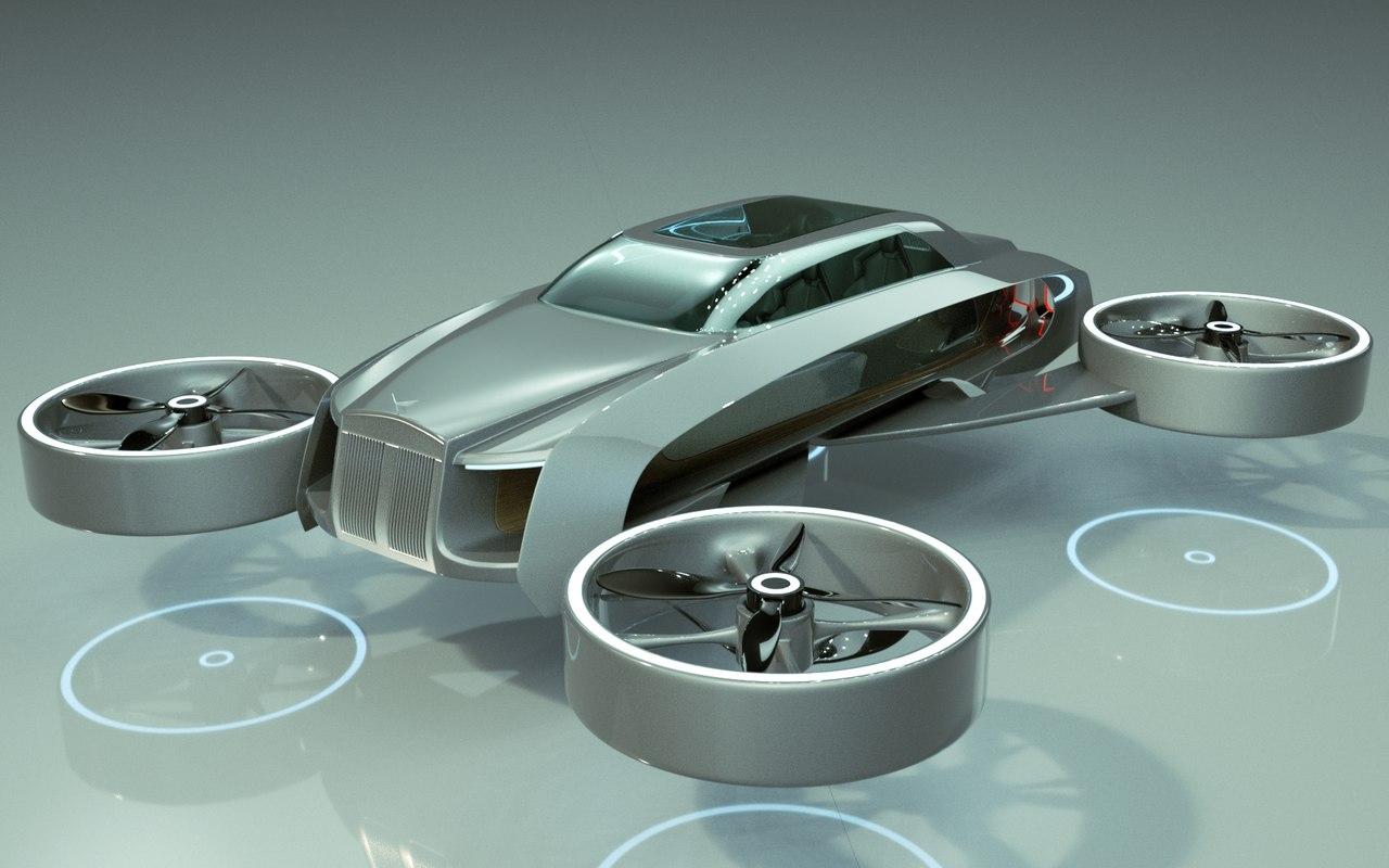 3D model car copter