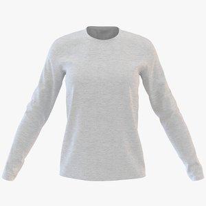 3D womens neck sweatshirt