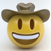 emoji cowboy cow 3D model