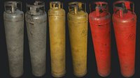 propane gas cylinder 2 3D