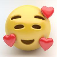 EMOJI SMILING HEARTS