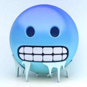 3D emoji freezing