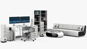 modern office room 3D