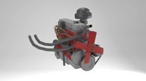 i6 engine 3D model