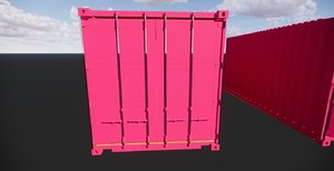 container standard iso 20 3D model