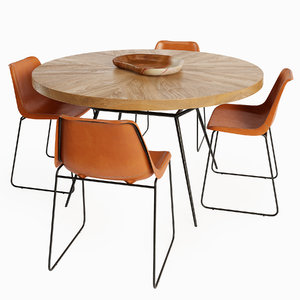 coco dining table chair 3D model