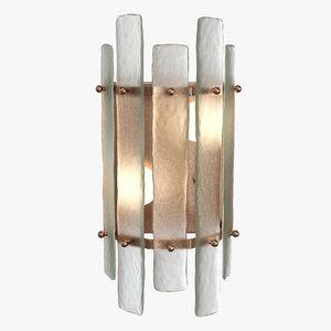 wall lamp caprera sconce 3D model