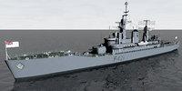 HMNZS Canterbury (F421) Leander Class Frigate